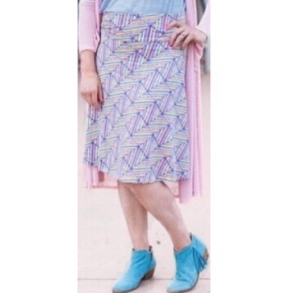 LuLaRoe Dresses & Skirts - 🔴4 FOR $30🔴LuLaRoe Pastel Geo Print Azure Skirt